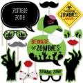 Big Dot of Happiness Zombie Zone - Halloween or Birthday Zombie Crawl Party Photo Booth Props Kit - 20 Count