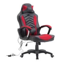 HOMCOM Racing Style Ergonomic Gaming Chair with Lumbar Support - Red/Black