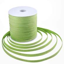 Whaline 229 Yards Raffia Paper Ribbon Craft Packing Paper Twine for Festival Gifts, DIY Decoration and Weaving, Christmas 1/4 inch Width (Green)