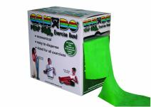 CanDo Perf 100 Low Powder Exercise Band, 100 yard with perforations, Green: Medium