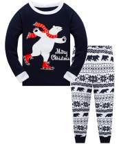 Boys Girls Christmas Bear Pajamas Sets 100% Cotton Reindeer Toddler Clothes 2 Piece Kids Pjs Children Sleepwear 2-10 Years