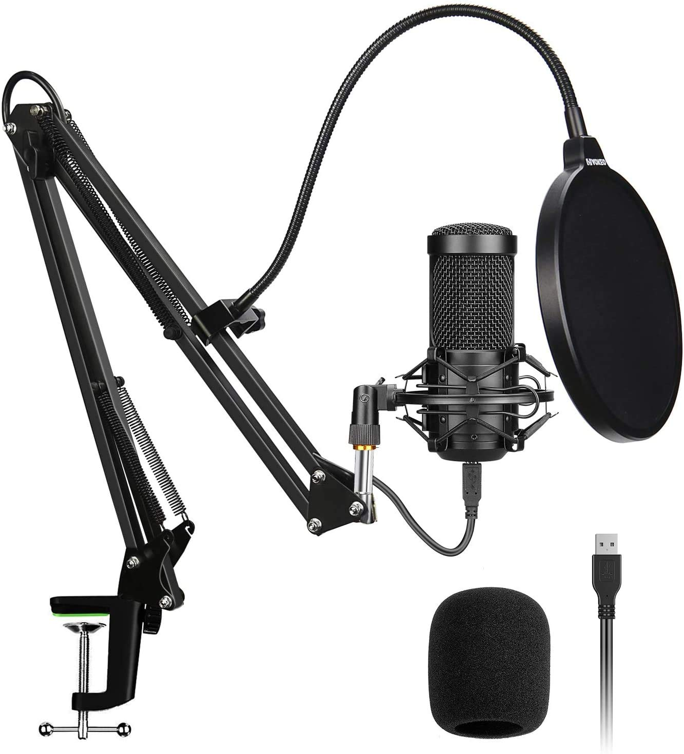 USB Microphone Kit 192KHZ/24BIT,Mic Podcast Condenser Microphone with Professional Sound Chipset,Recording Microphone for PC Gaming,Streaming Podcasting,YouTube (BM-800)