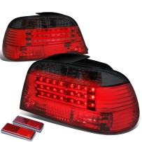Replacement for BMW E38 7-Series Pair of Smoked Lens Red LED Rear Brake+Signal Tail Light