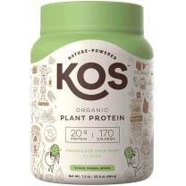 KOS Organic Plant Based Protein Powder – Raw Organic Vegan Protein Blend, 1.3 Pound, 15 Servings (Chocolate Chip Mint)