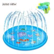"Eseres Sprinkler for Kids Splash Pad Play Mat 60"" Children's Sprinkler Pool Outdoor Party Sprinkler Toy Splash Pad for Babies Toddlers and Boys Girls-Bule"
