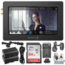 "Blackmagic Design Video Assist HDMI/6G-SDI Recorder and 5"" Monitor with 64GB Deluxe Accessory Bundle"
