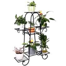 7 Tier Plant Stands Indoor Metal Plant Shelf Stand Outdoor Multilayer Potted Planters Display Rack Patio Garden, Size: 66 x 22 x 102cm