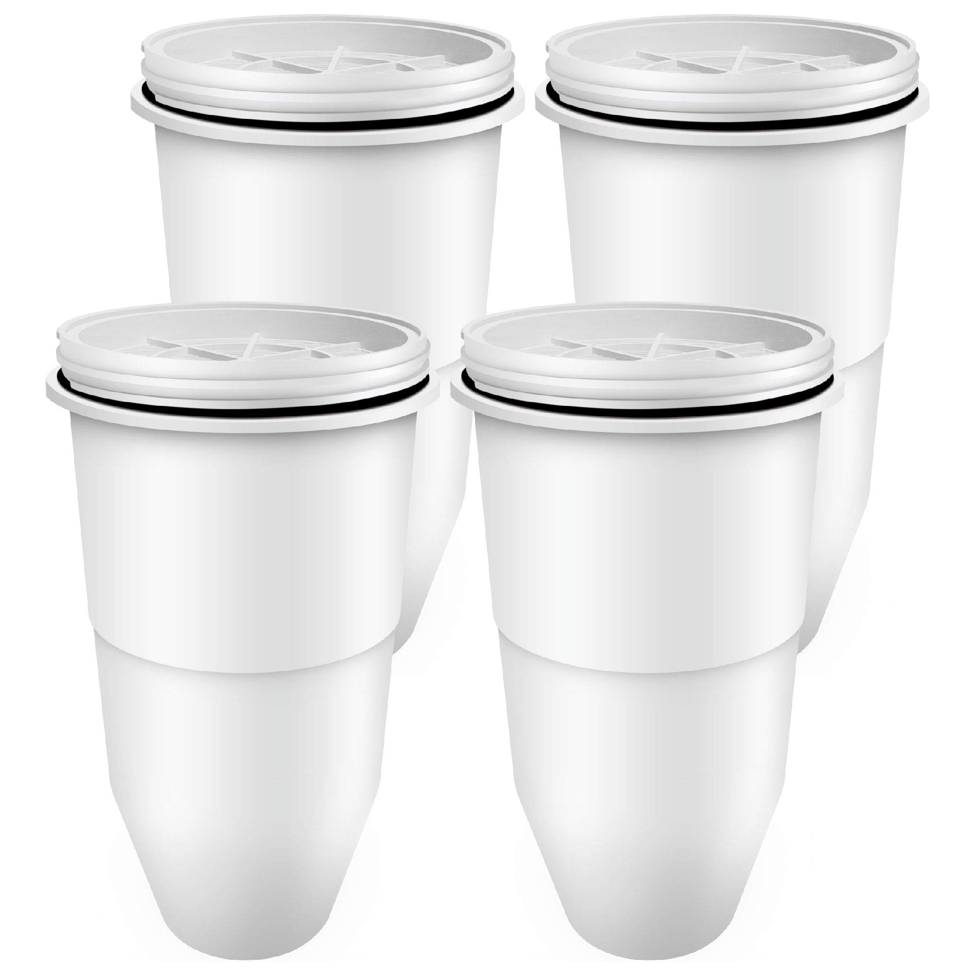 Waterdrop Pitcher Water Filters, Compatible with ZeroWater Pitcher Water Filter ZR 017 and ZeroWater Dispenser Water Filter, Pack of 4