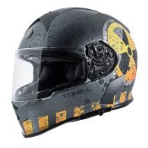 TORC Men's Full Face helmet (Flat Grey Nuke, Large)