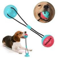 OUTFANDIA Dog Chew Toys Pet Supplies,Suction Cup Dog Toy Pet Molar Bite Toy Self-Playing Rubber Chew Ball Teeth Cleaning and Food Dispensing for Dogs Puppy Cats