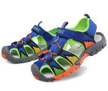 DADAWEN Boys Girls Sandals Outdoor Closed-Toe Summer Beach Hiking Athletic Water Sandals (Toddler/Little Kid/Big Kid)