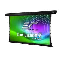 Elite Screens CineTension 2, 84-inch Diagonal 4:3, 4K/8K Tab-Tensioned Electric Drop Down Projection Projector Screen, TE84VG2