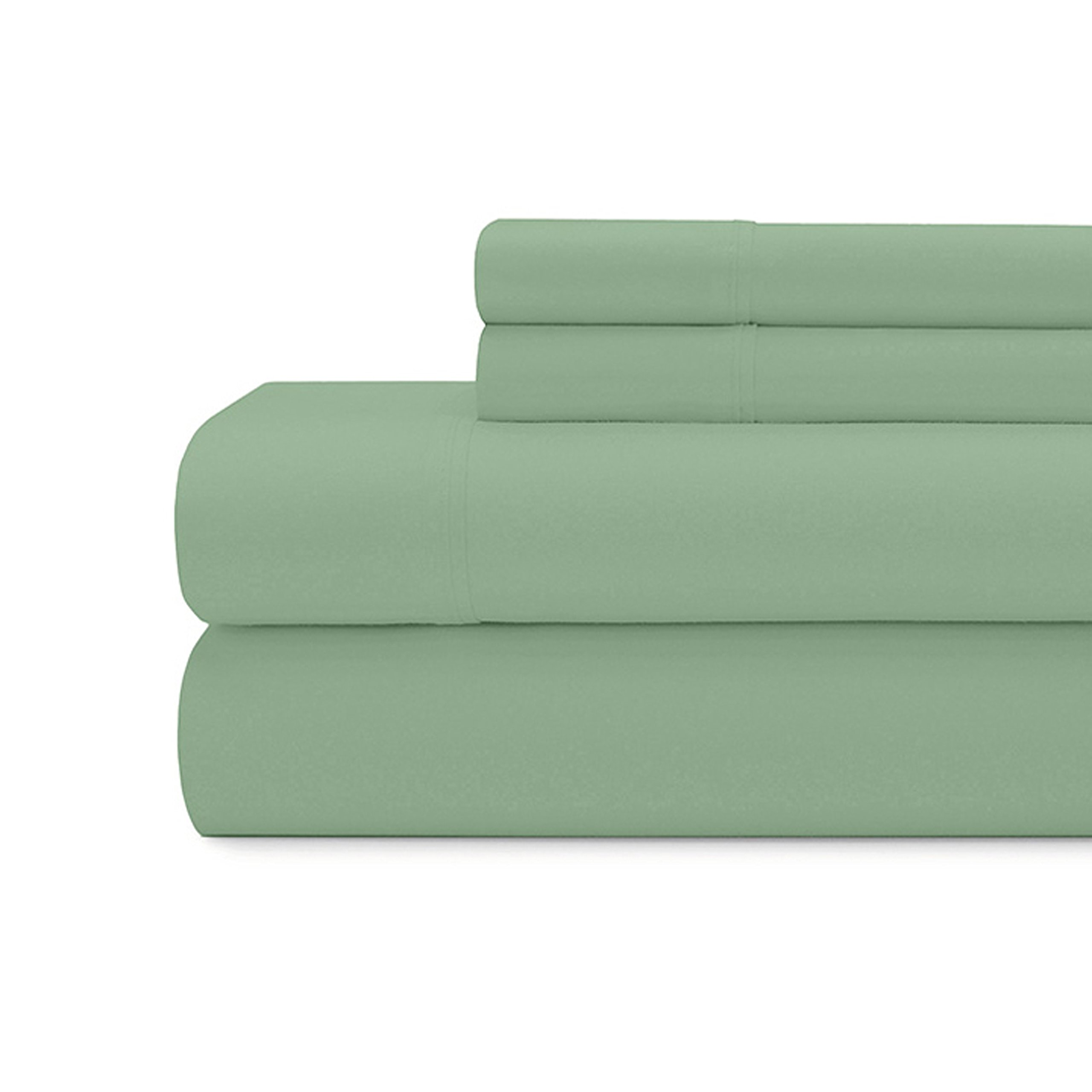 Briarwood Home 300 Thread Count Cotton Bed Sheet Set – 4 Piece Extra Soft Sateen Weave Sheets and Pillow Cases – Luxury Bedding with Deep Pocket Breathable Bedding (Queen, Sage Green)