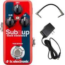 TC Electronic Sub 'n' Up Mini Octaver Effects Pedal Bundle with 9V Power Supply and Patch Cable