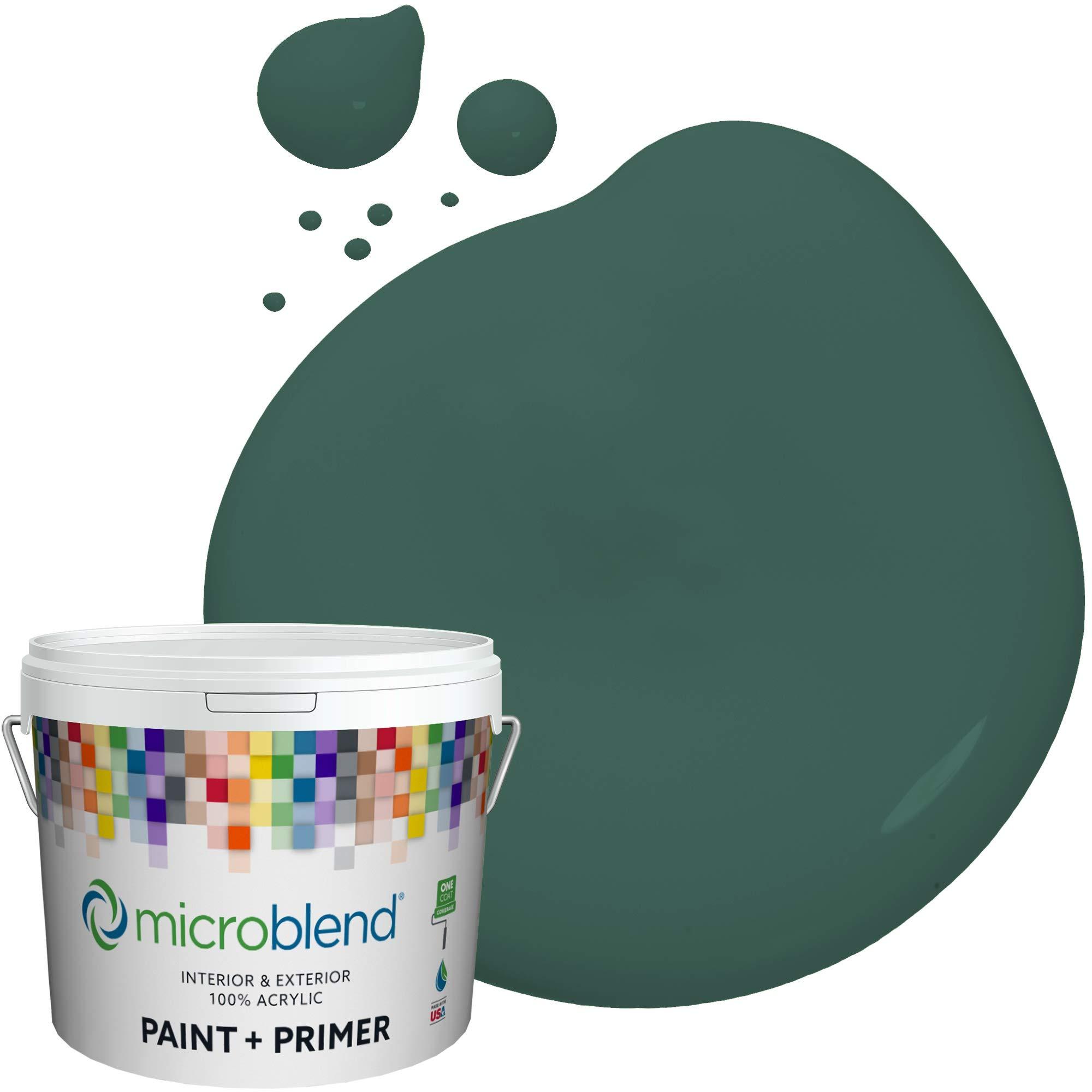 MicroBlend Exterior Paint + Primer, Vineyard Garden, Eggshell Sheen, 1 Gallon, Custom Made, Premium Quality One Coat Hide & Washable Paint