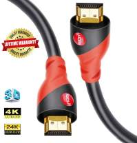 HDMI Cable 4K / HDMI Cord 12ft - Ultra HD 4K Ready HDMI 2.0 (4K@60Hz 4:4:4) - High Speed 18Gbps - 28AWG Cord-Ethernet /3D / HDR/ARC/CEC/HDCP 2.2 / CL3 by Farstrider