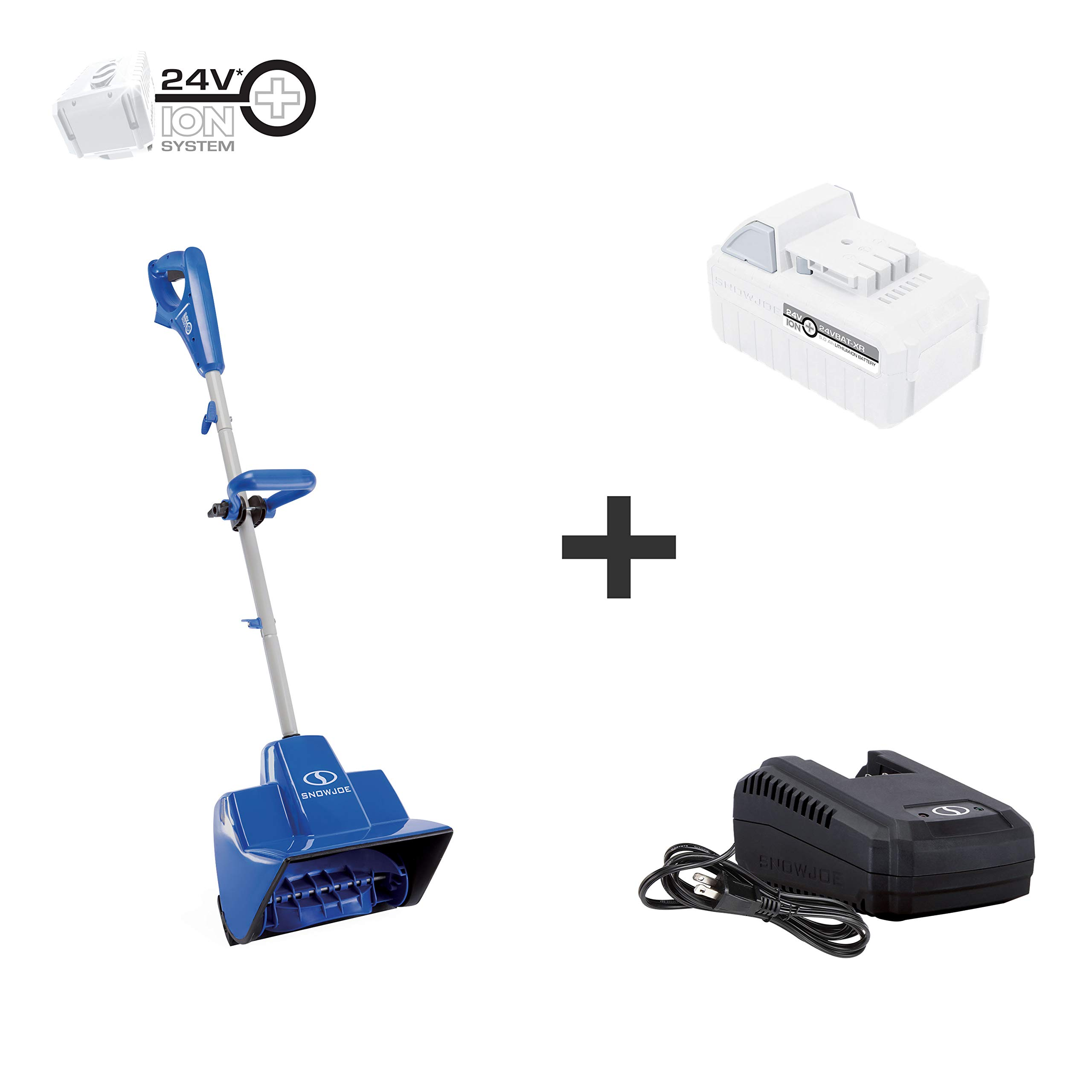 Snow Joe 24V-SS11-XR 24-Volt iON+ Cordless Snow Shovel Kit   11-Inch   W/ 5.0-Ah Battery and Charger