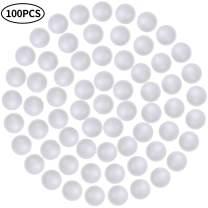 FINGOOO 100pcs 0.7inch White Polystyrene Foam Ball Smooth Styrofoam Polystyrene Balls for Crafts Craft,School Projects