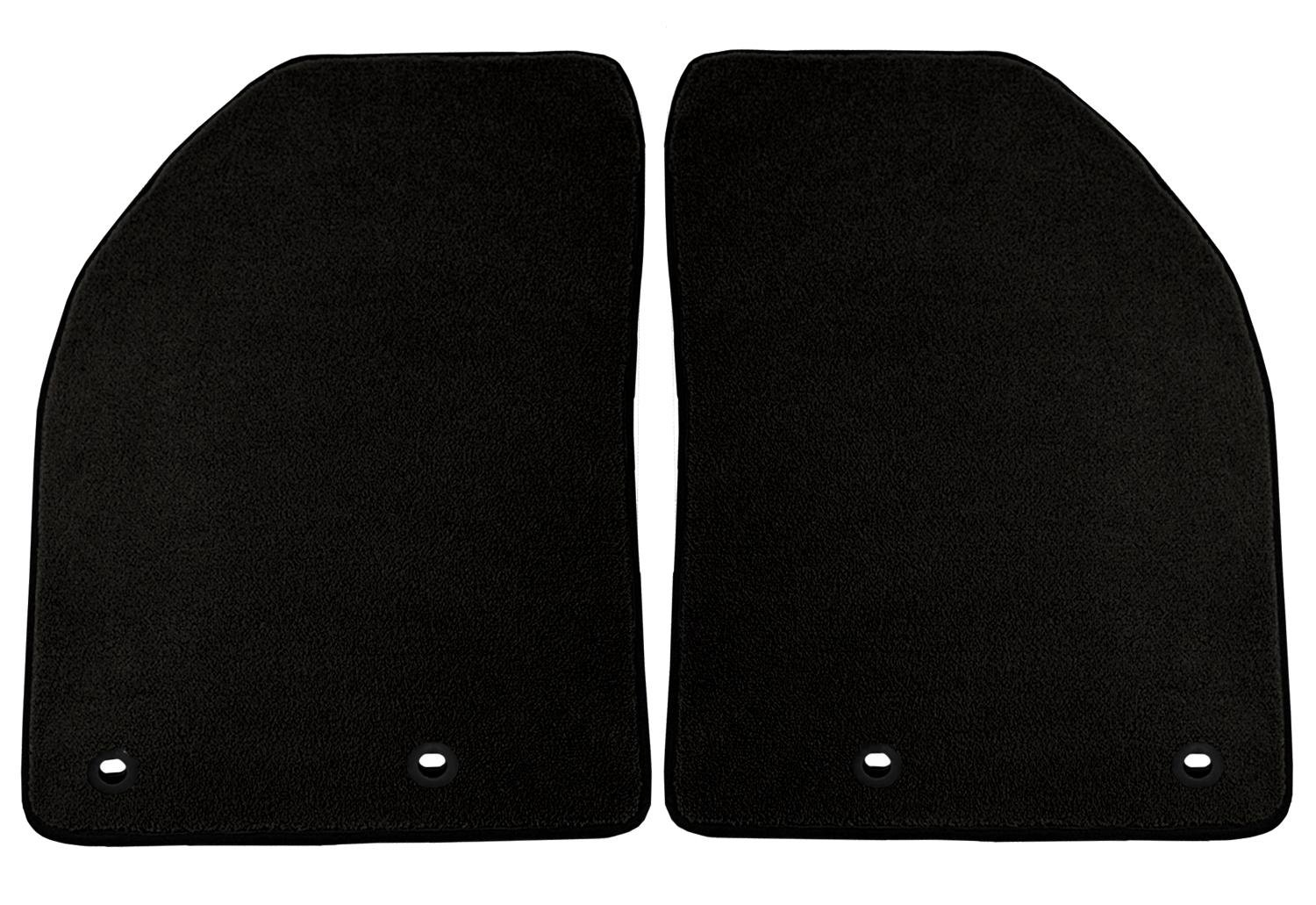 Coverking Custom Fit Front Floor Mats for Select Jaguar XJ Models Nylon Carpet Black