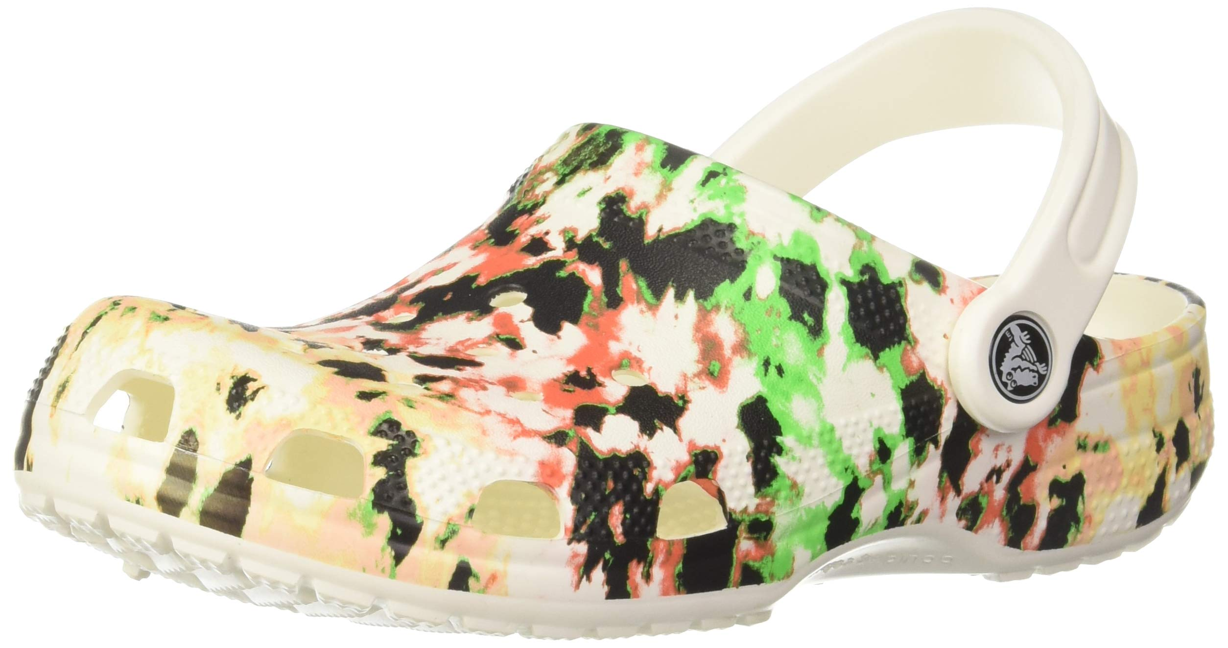 Crocs Kids Classic Tie Dye Clog   Slip on Water Shoe for Toddlers