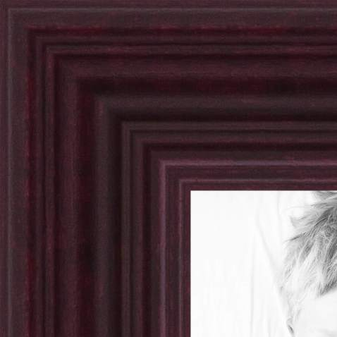 ArtToFrames 22x25 inch Cherry Stain on Hard Maple Wood Picture Frame, 2WOM0066-60823-YCHY-22x25