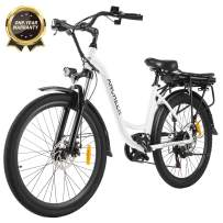 """ANCHEER 26"""" Electric Cruiser Bike w/Removable 12.5Ah Battery Pack Integrated with Frame City Ebike 35 Miles Range and Dual Disc Brakes Electric Bicycle"""