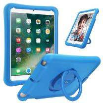 Fintie Case for iPad 9.7 2018 2017 / iPad Air 2 / iPad Air, [Magic Ring] 360 Rotating Multi-Functional Grip Stand Shockproof Full-Body Rugged Protective Cover for iPad 6th / 5th Gen, Blue