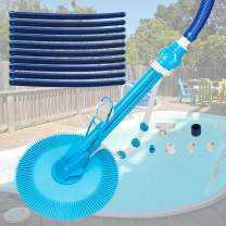 Goujxcy Swimming Pool Cleaner,Professional Automatic Swimming Pool Vacuum Cleaner Powerful Suction That Clean Swimming Pool Debris,Cleans Floors,Walls and Steps,Suitable for Inground and Above Ground