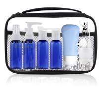 Empty Plastic Travel Bottles 2 oz, Small Travel Size Toiletry Containers Set,Travel Accessories for Liquids for Women/Men(Blue)