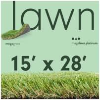 MEGAGRASS 15x28Ft LawnPlatinum Artificial Grass