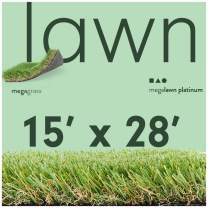 MEGAGRASS 15x28Ft LawnPlatinum Artificial Grass
