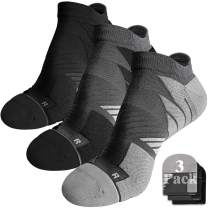No Show Running Athletic Anti-Blister Wicking Coolmax Socks, Seamless Anti-odor