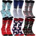 Christmas Socks, Gmall Christmas Cartoon Novelty Cotton Soft Cute Holiday Crew Socks for Women and Men
