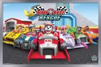 "Trends International Nick Jr Nickelodeon Paw Patrol - Rescue, 14.725"" x 22.375"", Silver Framed Version"