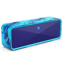 AXLOIE Portable Bluetooth Speaker, Camouflage Bluetooth 5.0 Wireless Speaker with Deep Bass and Stereo Audio, 12 Hours Playtime, Support USB/TF Card/AUX Built-in Mic for Home Outdoors Travel