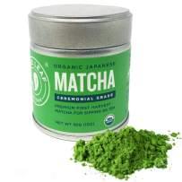 Jade Leaf Organic Ceremonial Grade Matcha Green Tea Powder - Authentic Japanese Origin - Premium 1st Harvest [1.06oz Tin]