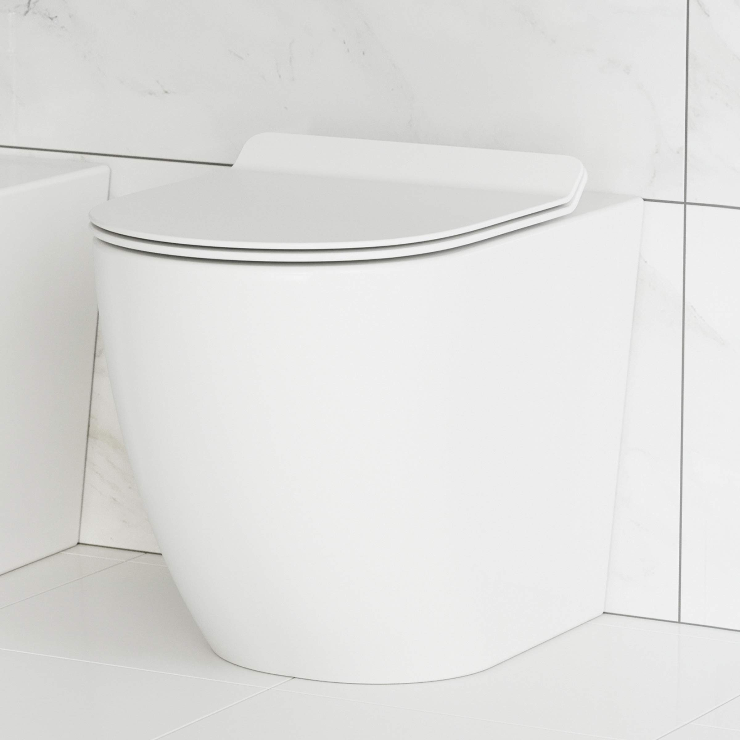 Swiss Madison Well Made Forever SM-WT514 St. Tropez Back To Wall Toilet, Glossy White
