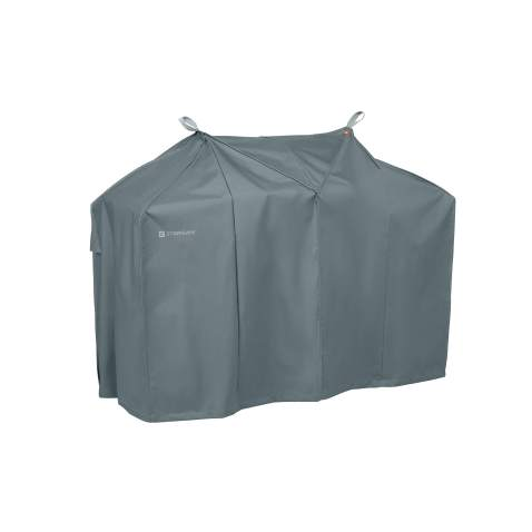 Classic Accessories Storigami Easy Fold Water-Resistant 58 Inch BBQ Grill Cover, Monument Grey