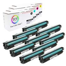 TCT Premium Compatible Toner Cartridge Replacement for HP 651A CE340A CE341A CE342A CE343A Works with HP Color Laserjet Enterprise 700 MFP M775dn M775f M775z Printers (B, C, M, Y) - 10 Pack