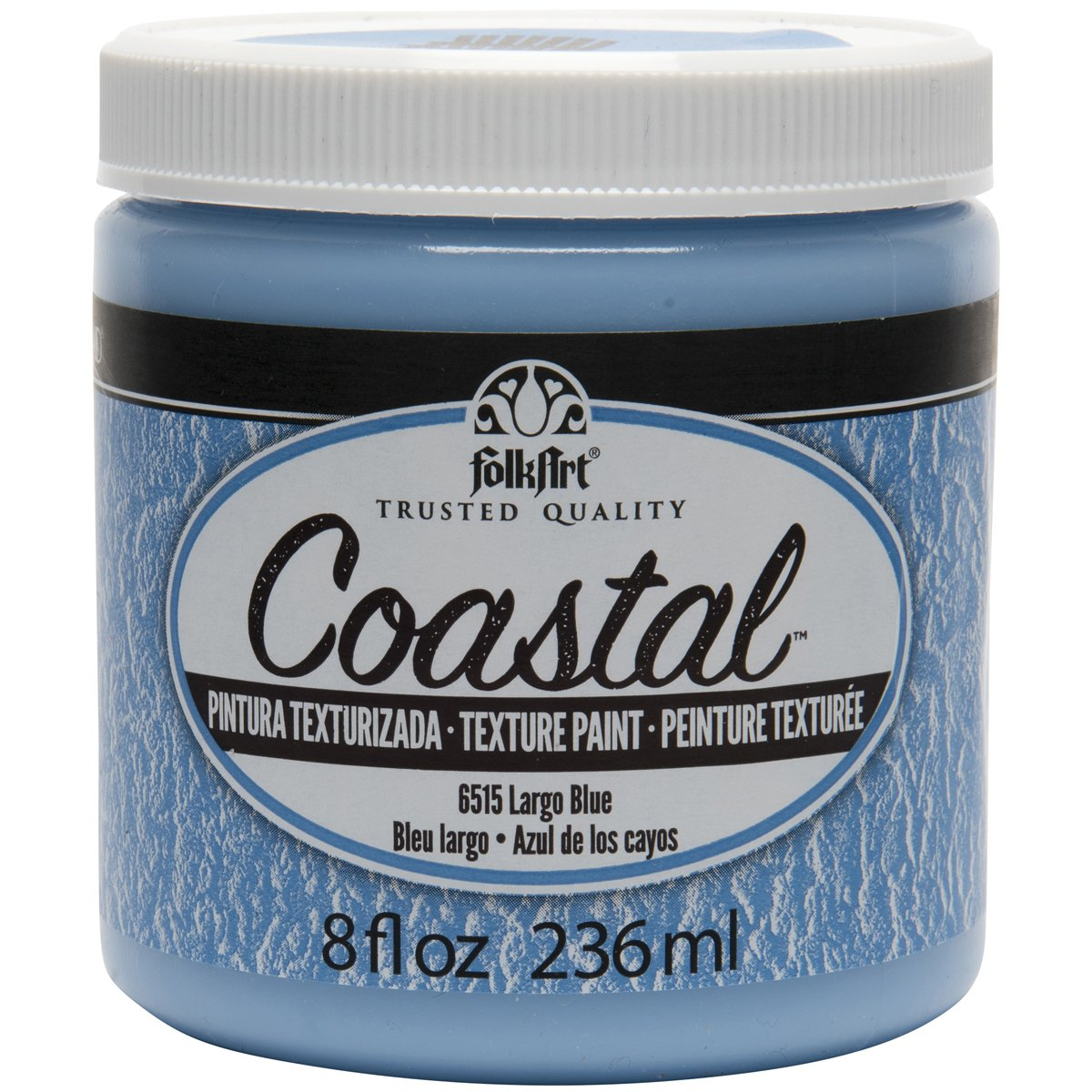 FolkArt Coastal Texture Paint in Assorted Colors (8 ounce), Largo Blue