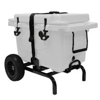 Garden Star 70135 Universal Fit Cooler Cart with Flat Free Tires, Black