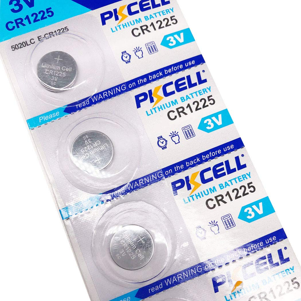 CR1225 3V Lithium Battery for Oral thermometers,Children's Thermometer,Baby Thermometer,Electronic Thermometer 5PCS