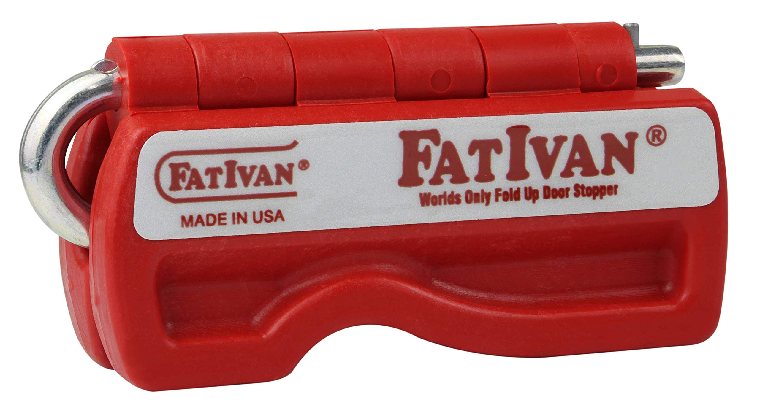The Original Fat Ivan Fold Up Door Chock with Magnet - Red