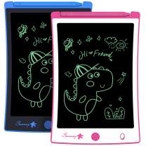 2 Pack 8.5 Inch LCD Writing Tablet,Boys Girls Toys Doodle Board Drawing Board Reusable Doodle Pad,Electronic Drawing Pad Toy for Kids Learning & Education Handwriting Aids (Pink and Blue)