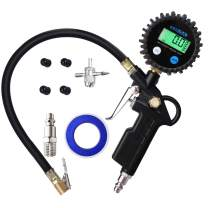 GSSUSA Digital Tire Inflator Pressure Gauge 200 PSI Accuracy Display Heavy Duty Air Compressor Accessories for Car, Truck, Bike, Auto