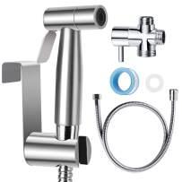 Hand Held Bidet Sprayer for Toilet Baby Cloth Diaper Sprayer Shower Sprayer for Pet Stainless Steel Bathroom Bidet Sprayer Set   Three Days Arrived