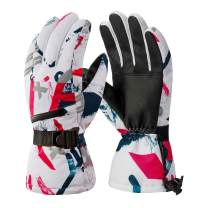 Winter Ski Gloves, Waterproof Snowboard 3M Thinsulate Warm Touchscreen Cold Weather Gloves Wrist Band, Fits Both Men & Women