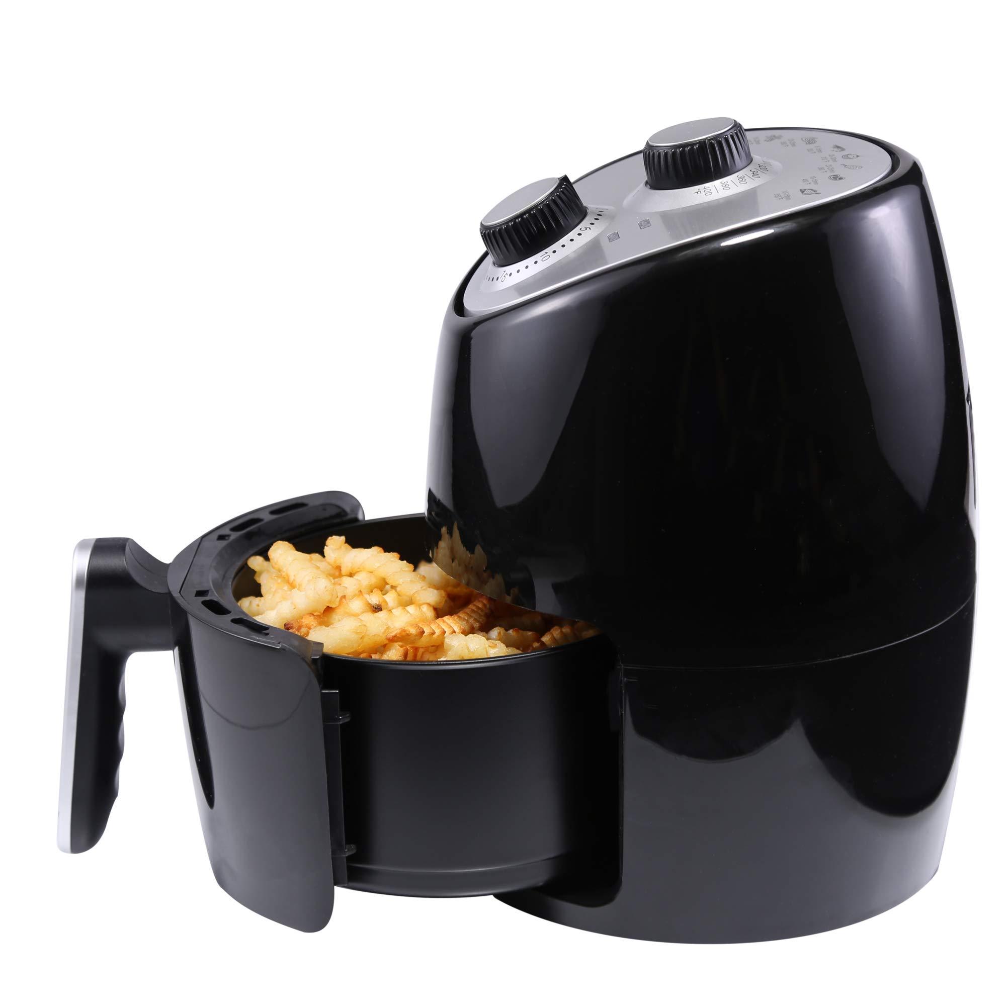 Continental Electric CE-DF309 Air Fryer 2.0 Liter, Black