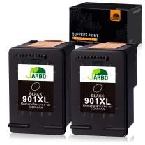 JARBO Remanufactured for HP 901 Ink Cartridges, HP 901XL 901 XL, 2 Black, Use with HP Officejet 4500 J4500 J4524 J4540 J4550 J4580 J4624 J4640 J4660 J4680 J4680C Printer, Ink Level Display