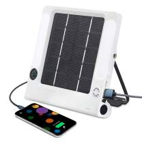 KINUR 5W 250lm Solar Powered LED Camping Lantern - Solar or USB Phone Chargeable, 5W/5V Big Solar Panel(Fast Charging), 3.7V 2600MA Replaceable Battery, Flashlight, for Outdoor Night Hiking Camping!